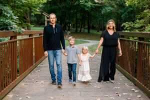 family at SIUE gardens in Edwardsville IL